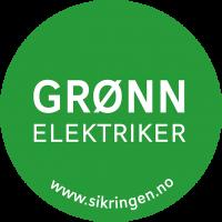 Grønn elektriker logo