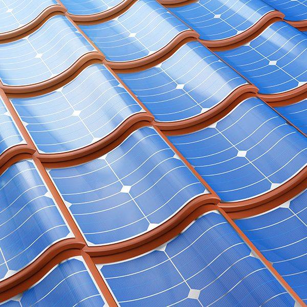 Takstein av solceller
