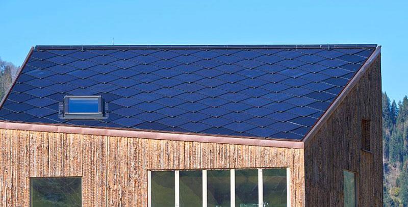 Takstein som solcellepanel